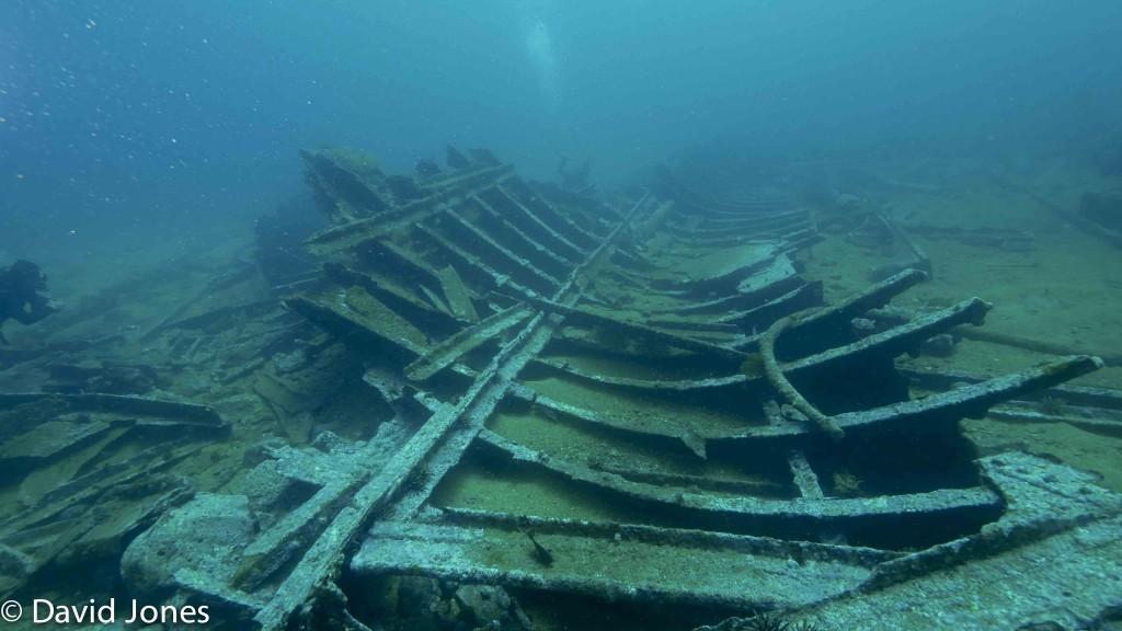 Wreck in San Cristobal, Galapagos